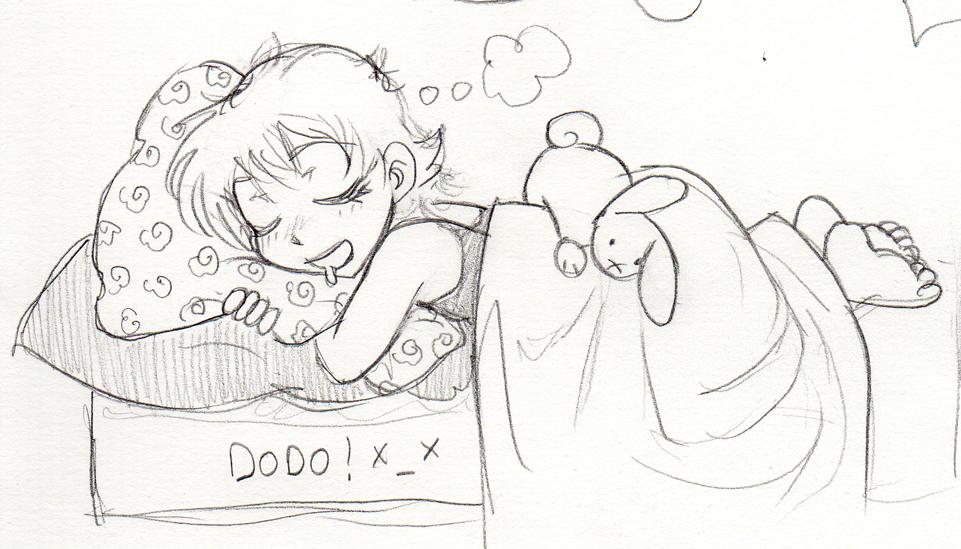 comment dessiner quelqu'un qui dort